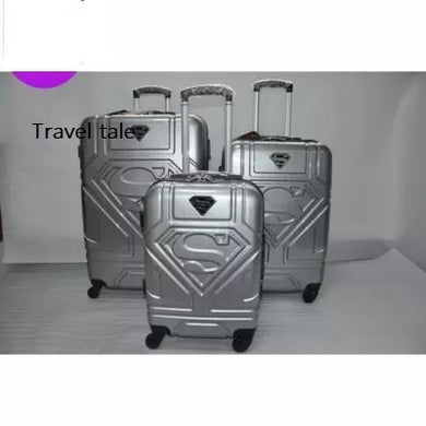 - CARRYLOVEKT PC 20/24/28 inches Cartoon superhero Superman Rolling Luggage Spinner brand High quality Travel Suitcase - guiro - Zeinab Fashion