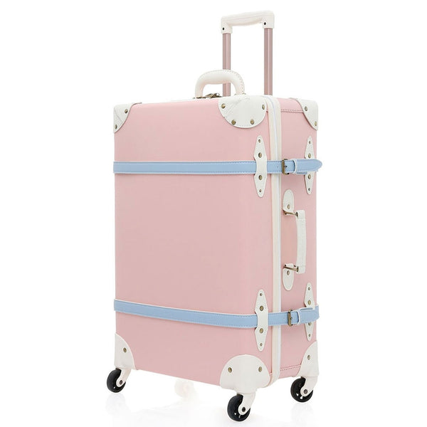 - Suitcase PU Leather Trolley Wheel TSA Lock High Capacity Luggage Travel Suitcase with Spinner Wheels for Teens - guiro - Zeinab Fashion