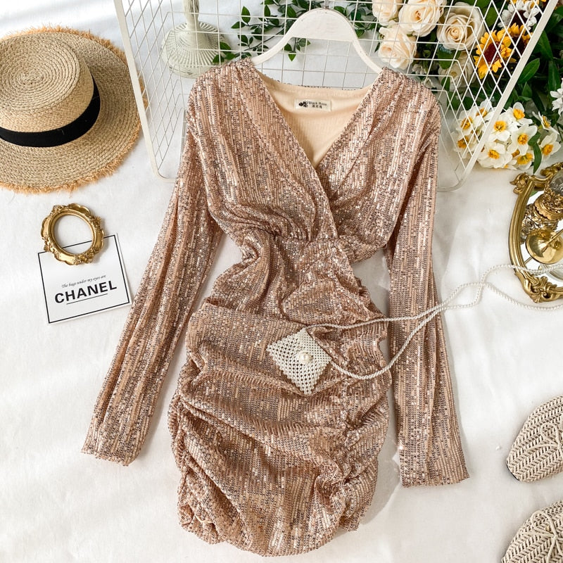 ,women Sequins dress vestidos 2020 new,guiro,FreeDropship.