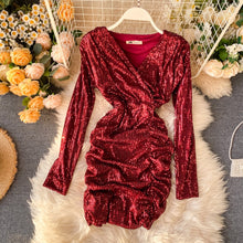 Load image into Gallery viewer, ,women Sequins dress vestidos 2020 new,guiro,FreeDropship.