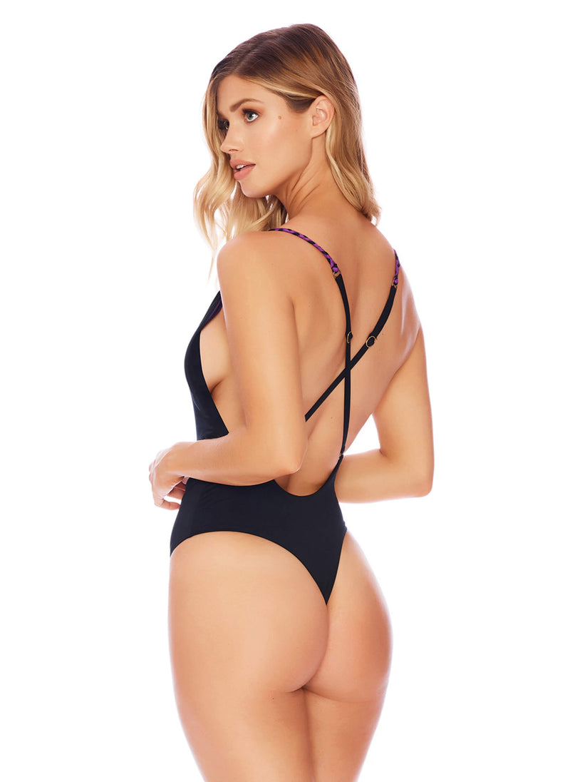 Brazenly Braided One Piece In Midnight - Brazilian