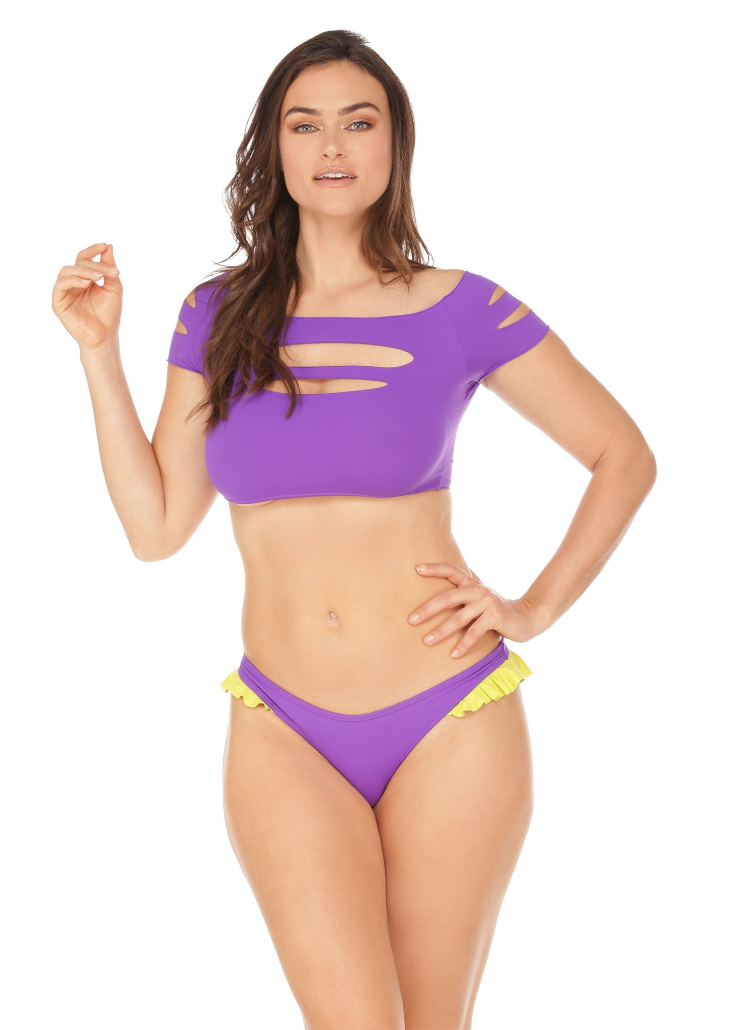 Slasher Top - Neon Purple