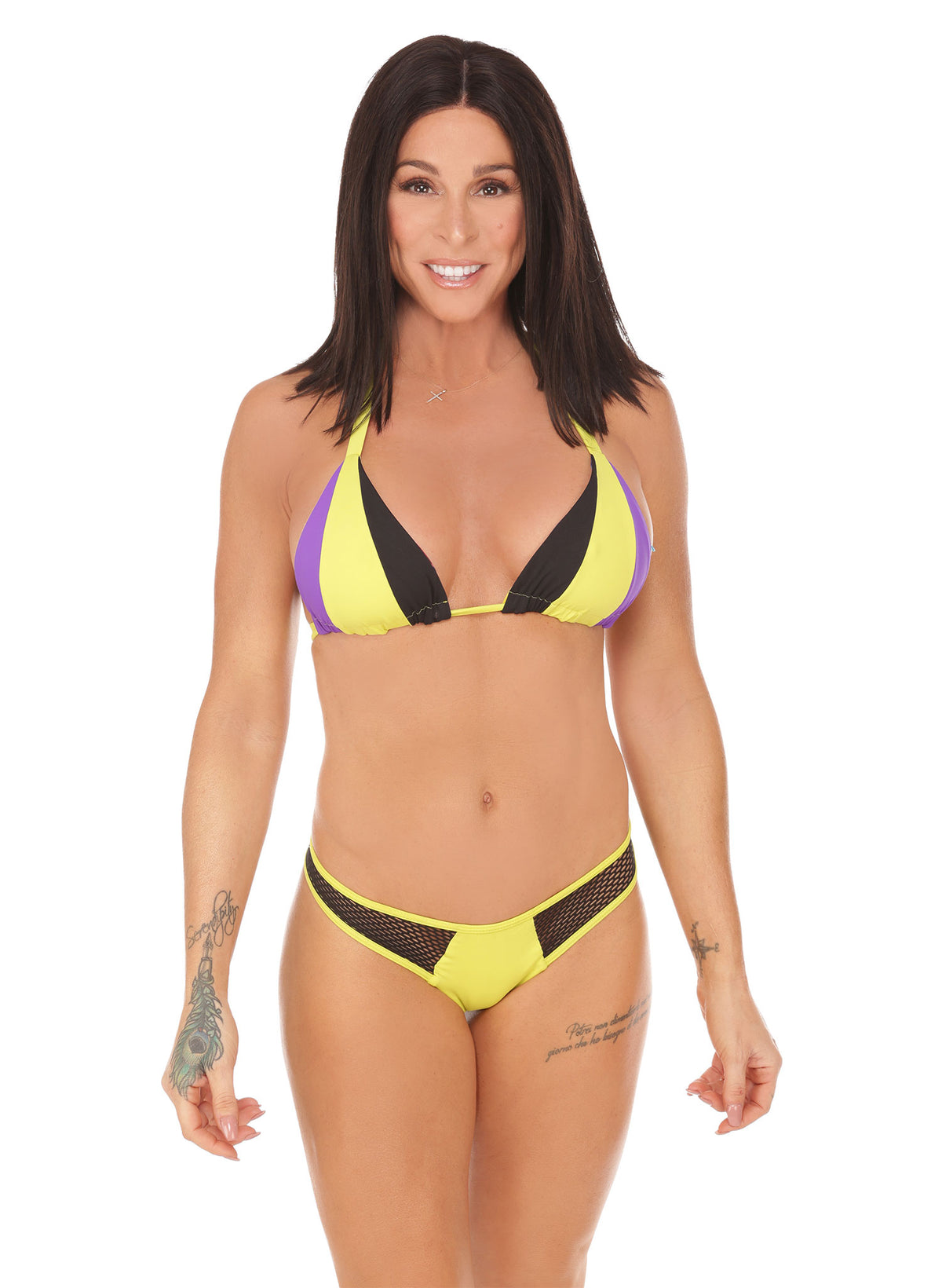 Trixy Triangle Top - Neon Yellow