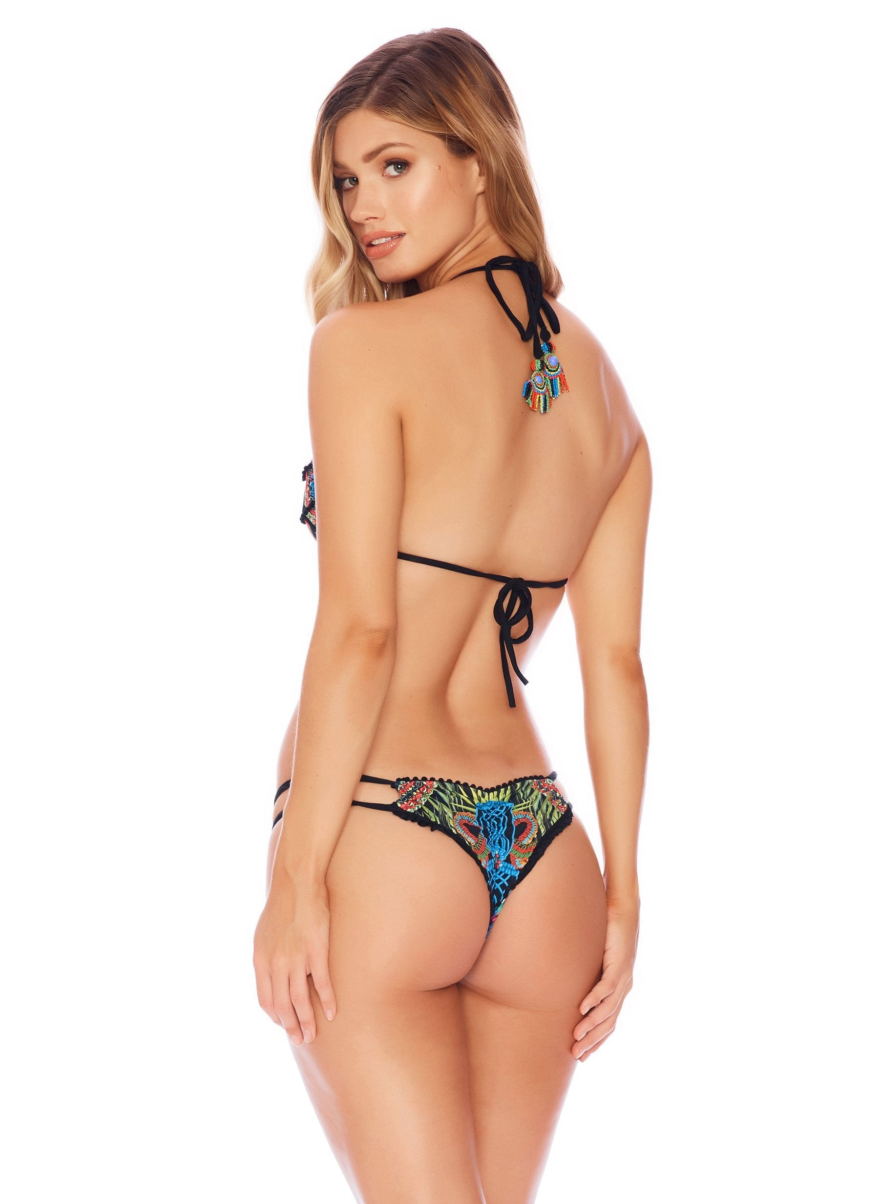 African Jewel Ruffle - Semi Brazilian - Salty Mermaid Swim