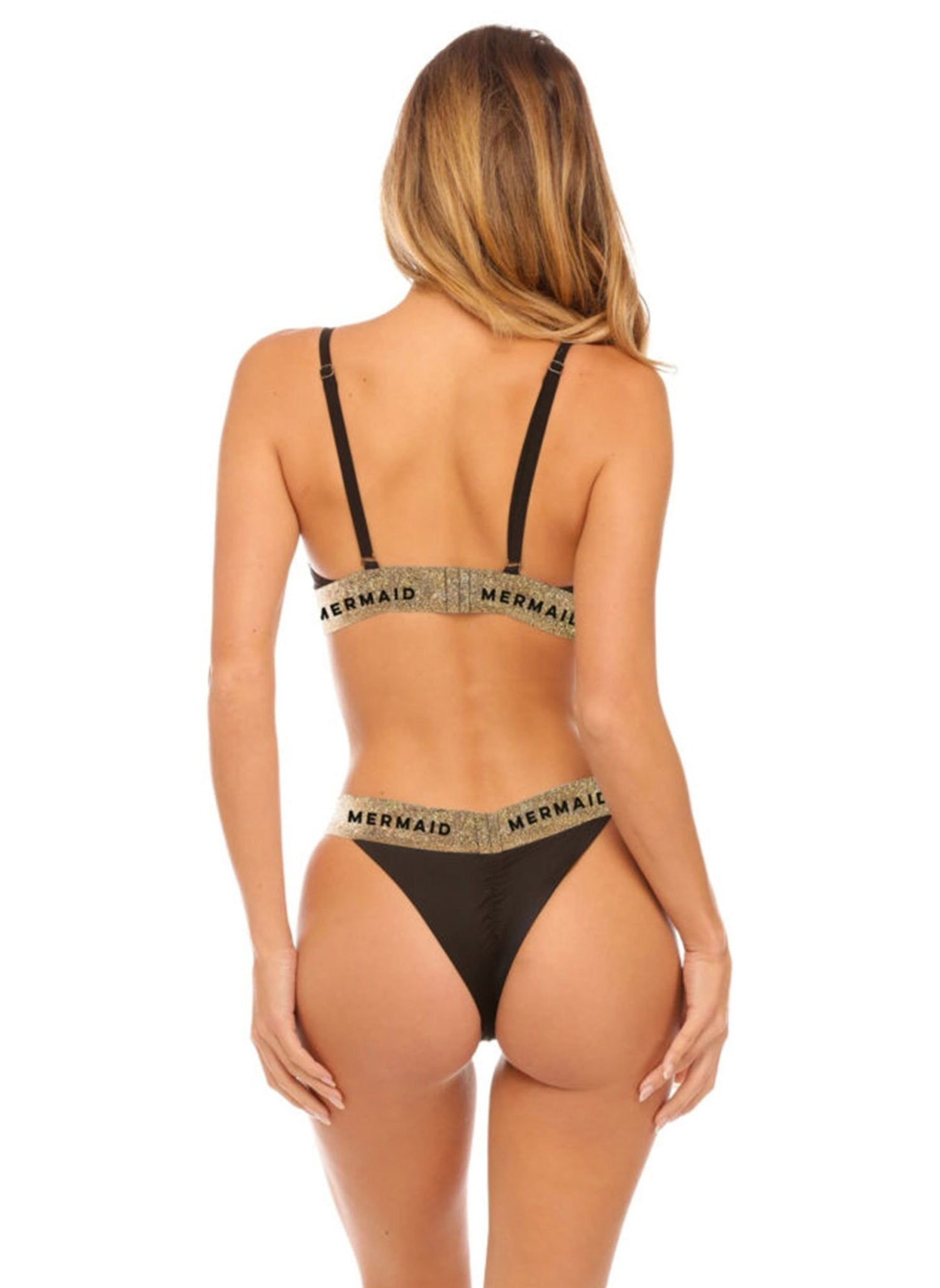Banded Bottom - Black - Salty Mermaid Swim