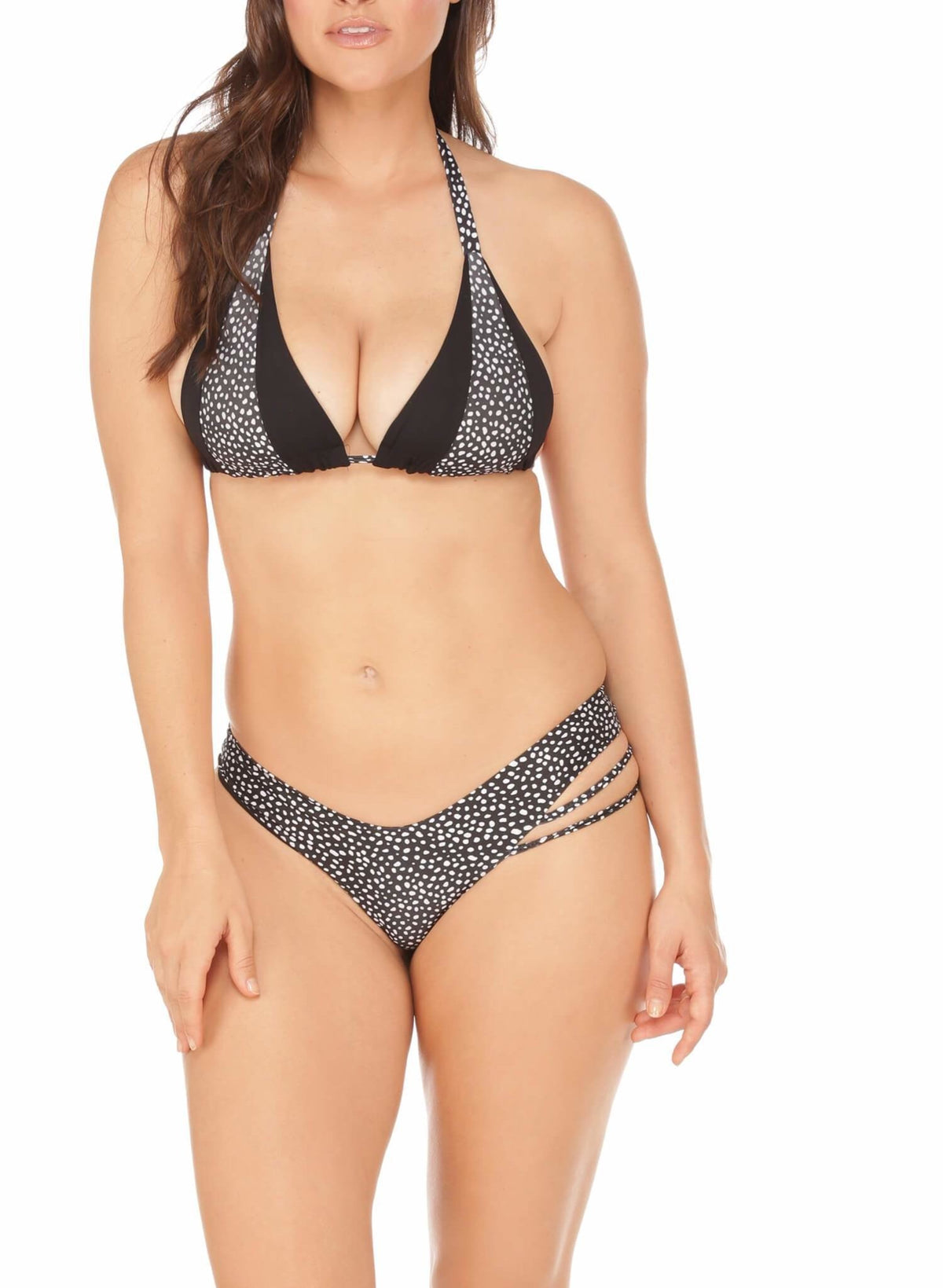 Cali High Cut Bottoms - Cheeky - Polka Dots