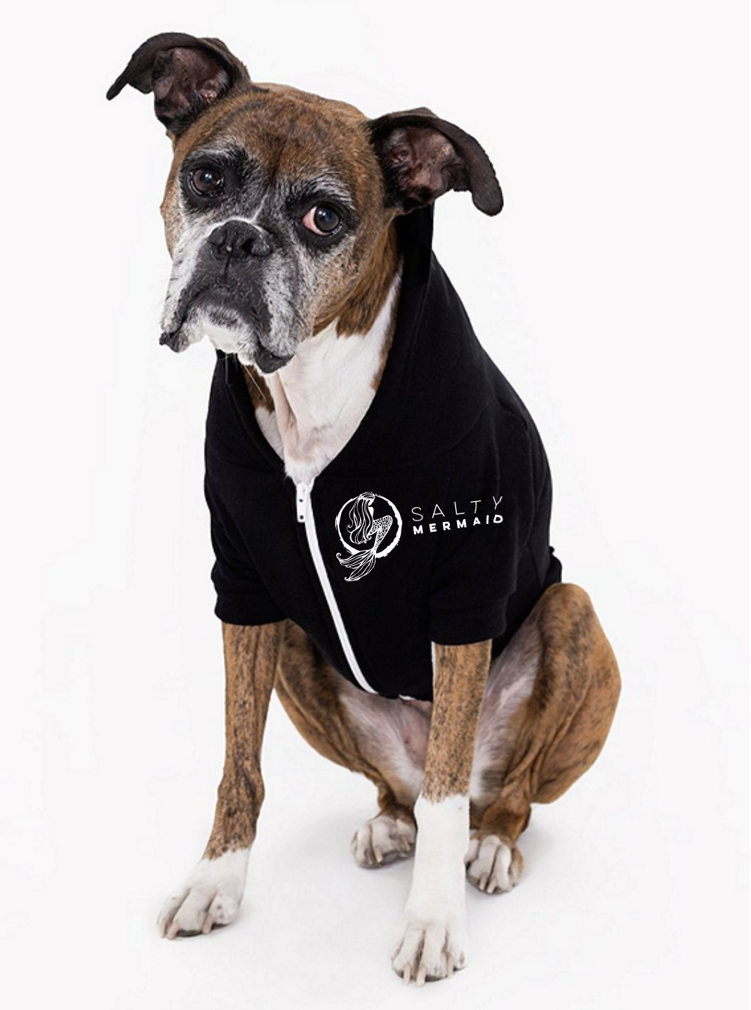 Dog Zip Hoodie - Black - 50% Off