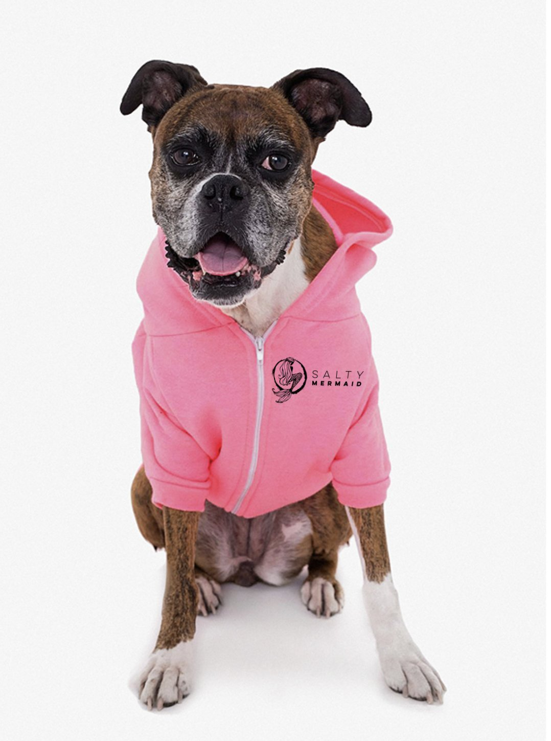 Salty Mermaid Dog Zip Hoodie - Pink - Salty Mermaid Swim