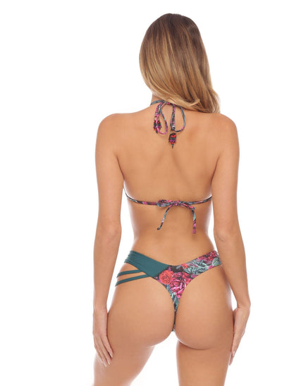 Gemma Triangle - Contrast Trim - Petrol - Salty Mermaid Swim