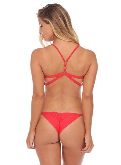 Jessica Bottom - Cheeky - Red - Salty Mermaid Swim