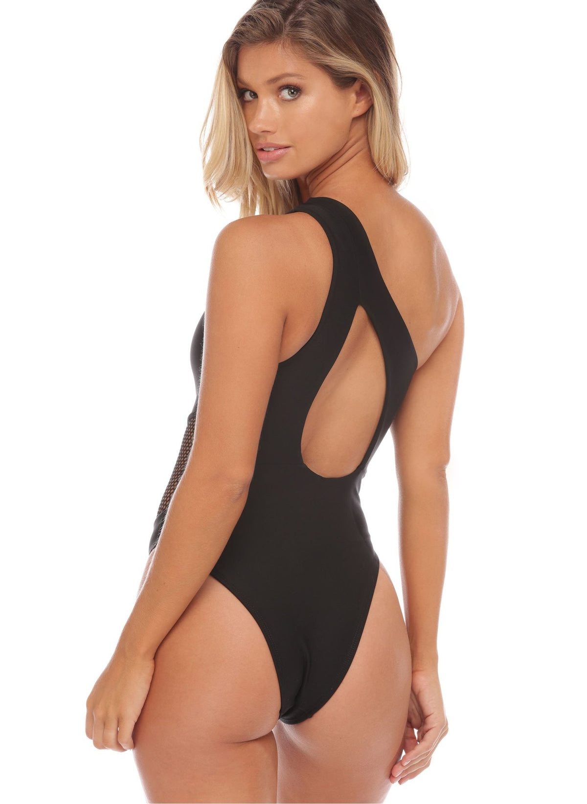 Kara Mesh Me One Piece - Black - Salty Mermaid Swim