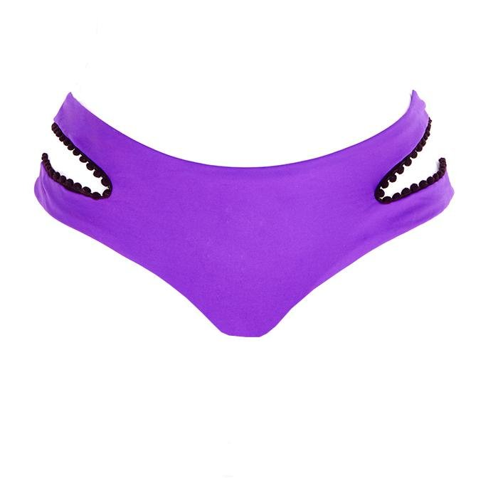 Lavish Leopard Ruched Bottom - Neon Purple