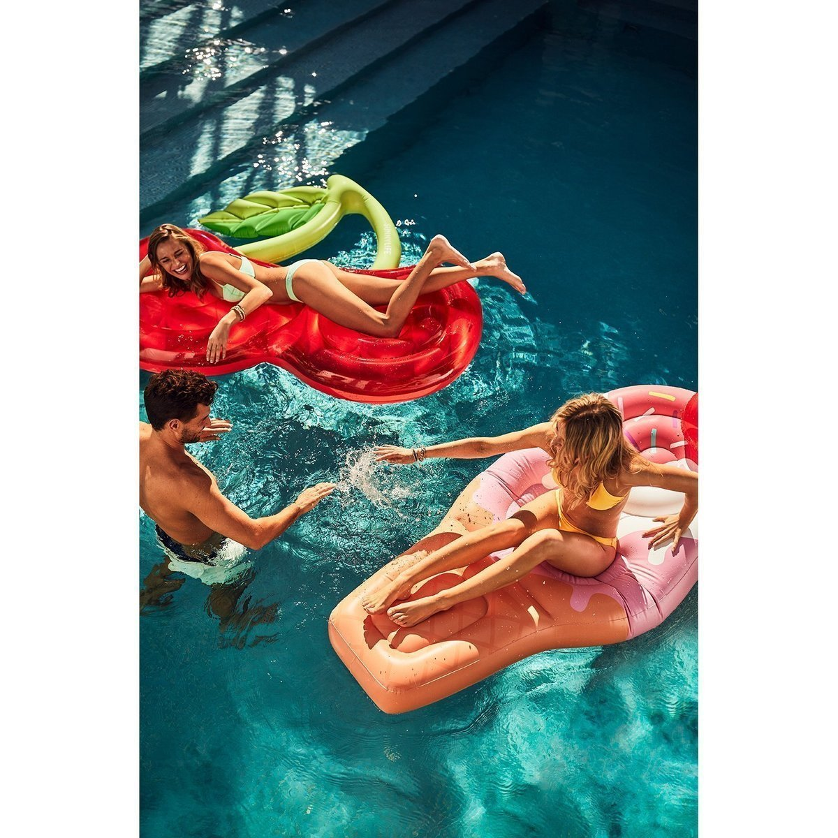 Lie-On Float - Cherry - Salty Mermaid Swim
