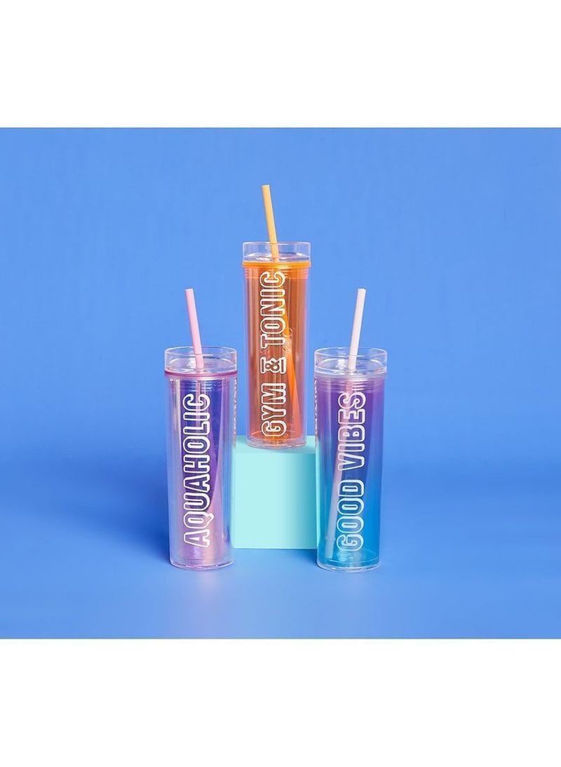 Malibu Tumbler - Neon Orange - Salty Mermaid Swim