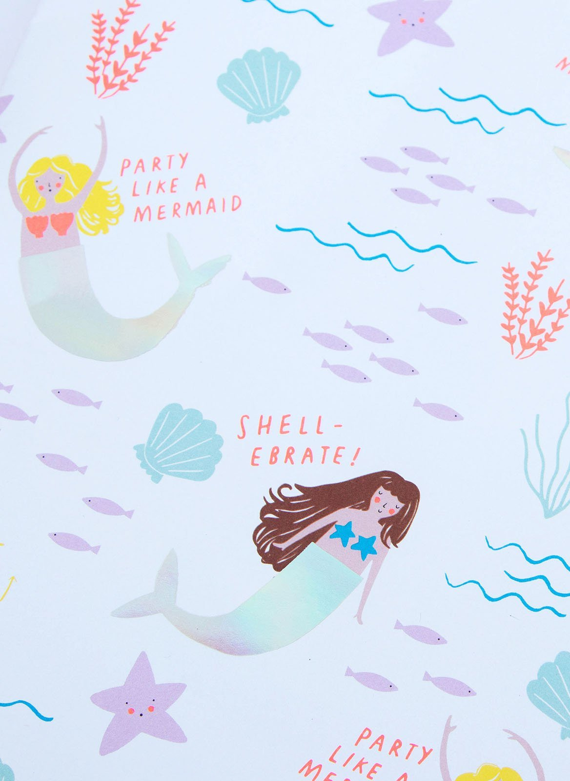 Mermaid Treasure Gift Wrapping - Salty Mermaid Swim