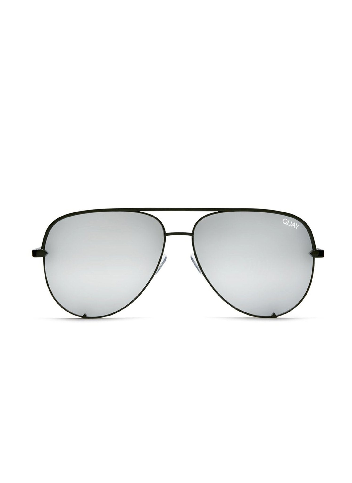 Quay High Key Sunglasses - Black/Silver - Salty Mermaid Swim