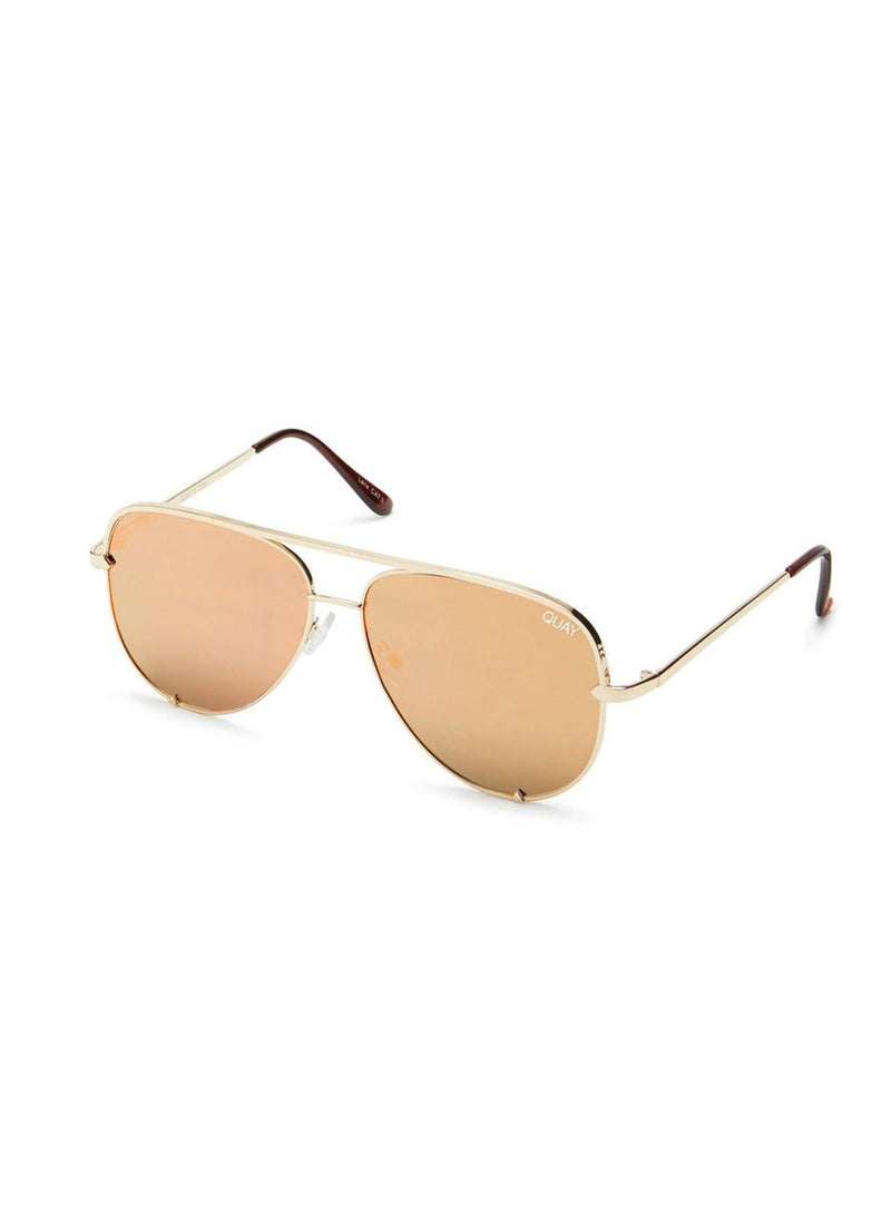 Quay High Key Sunglasses - Gold - Salty Mermaid Swim
