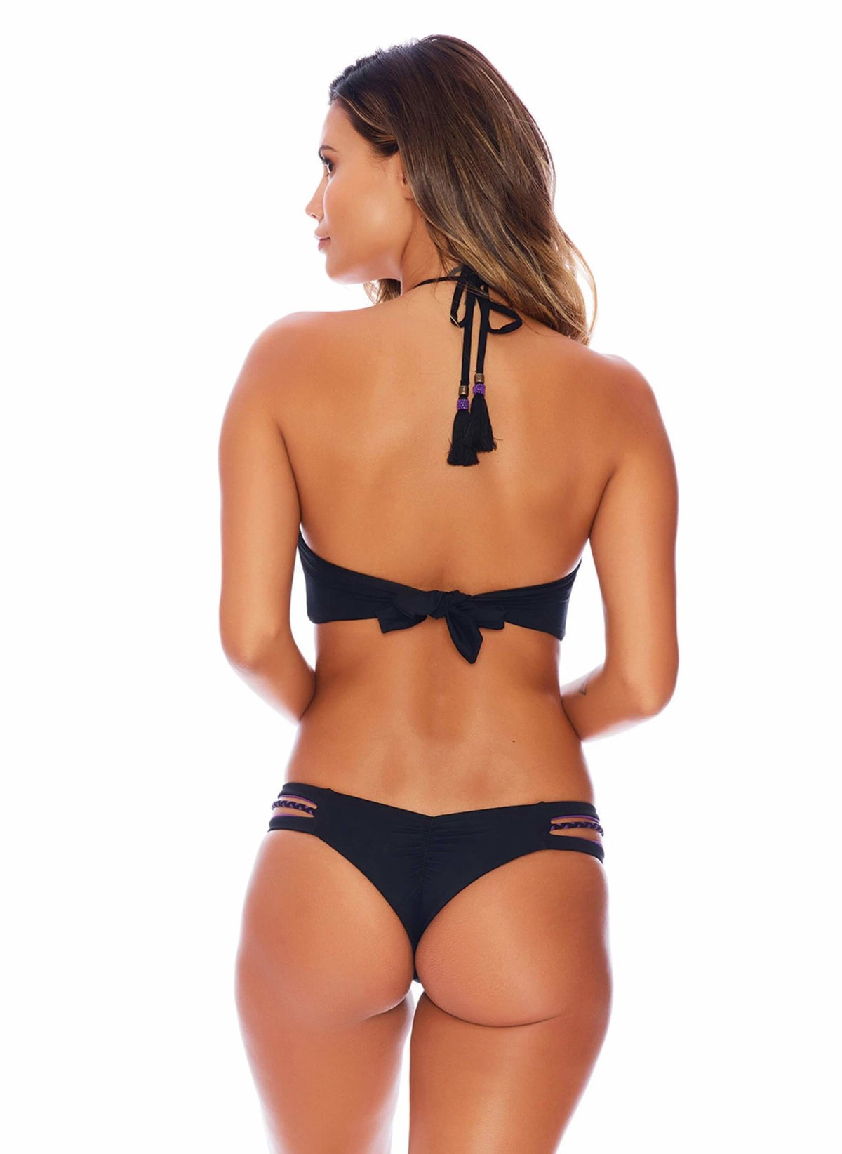 Reversible Black/Purple Peekaboo - Semi Brazilian