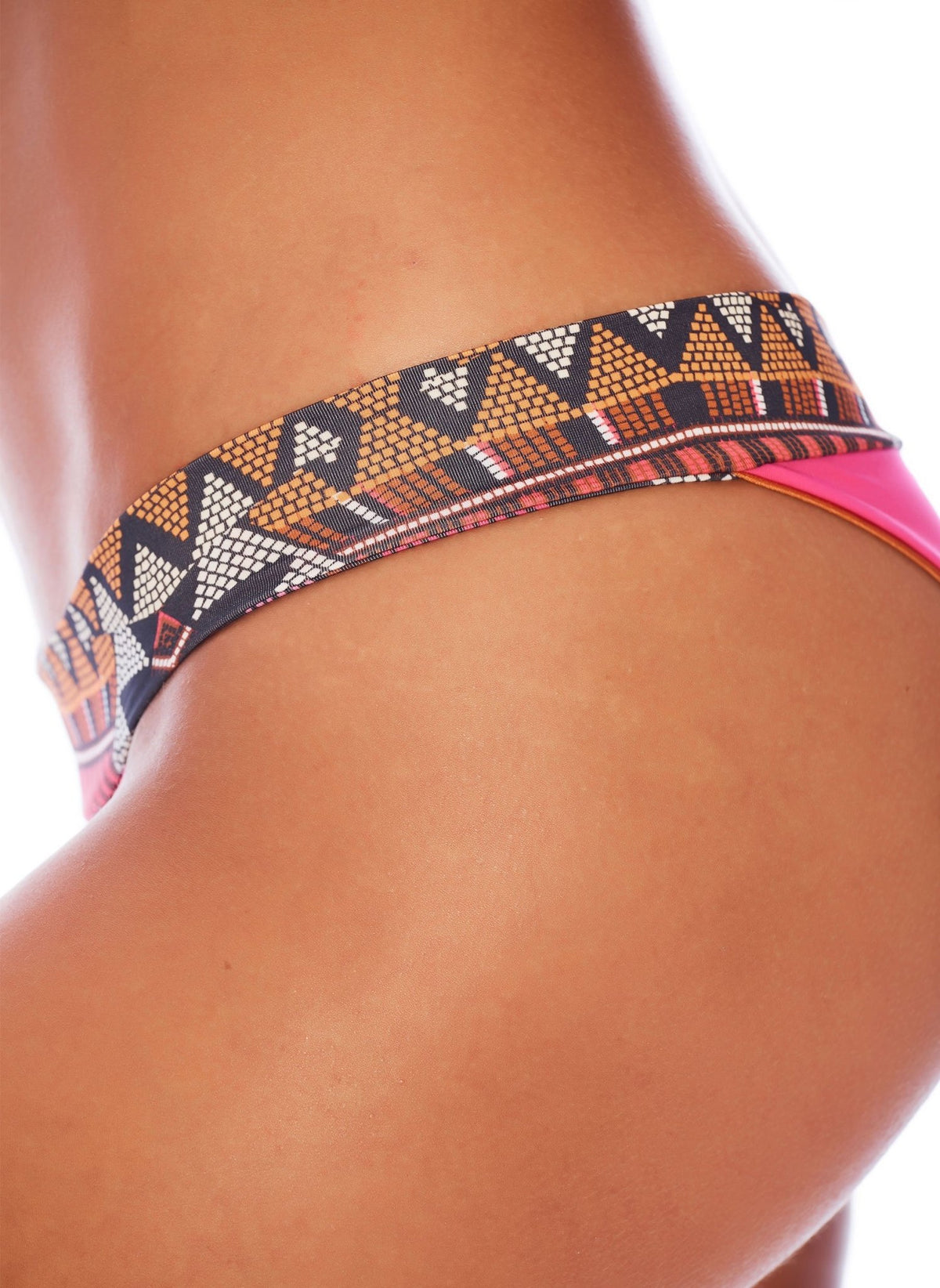 Reversible Pink/Orange Tribal - Semi Cheeky