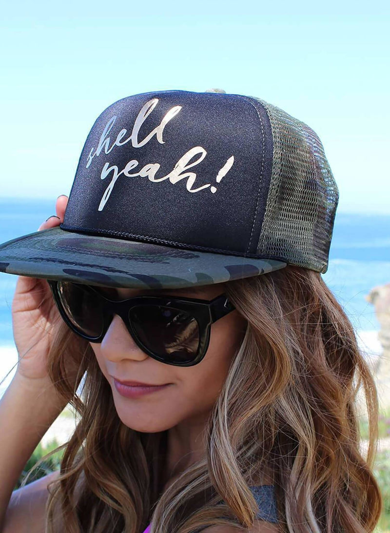 Salty Mermaid Camo Hat