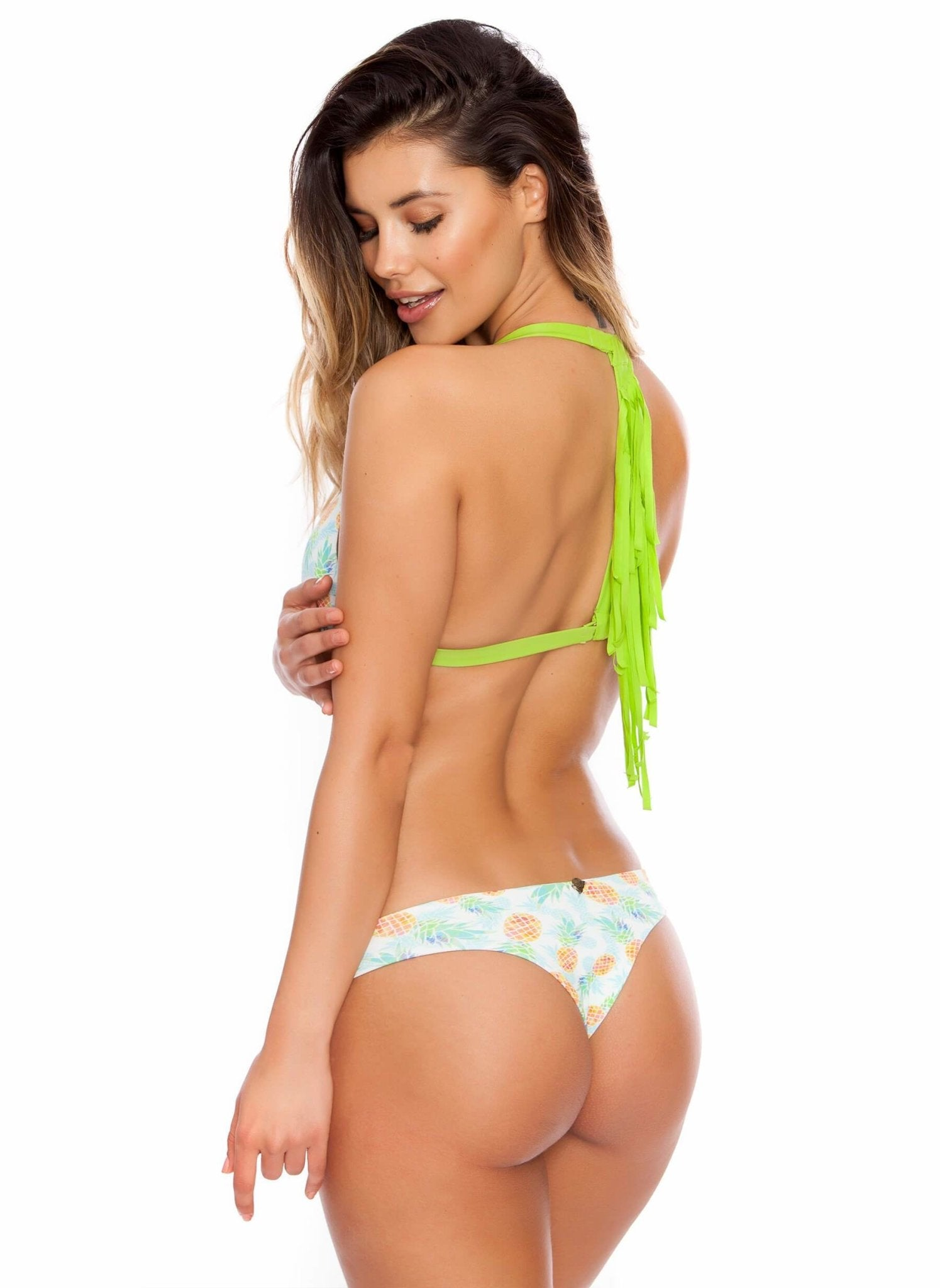 Salty n' Sassy - Pineapple Me Crazy Brazilian Bikini Bottom - Salty Mermaid Swim