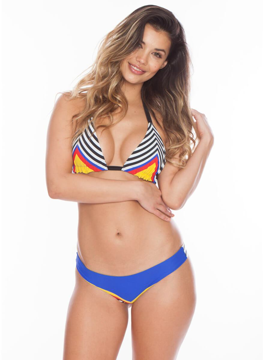 Salty n' Sassy - Spotted Samba Reversible Triangle Bikini Top - Salty Mermaid Swim