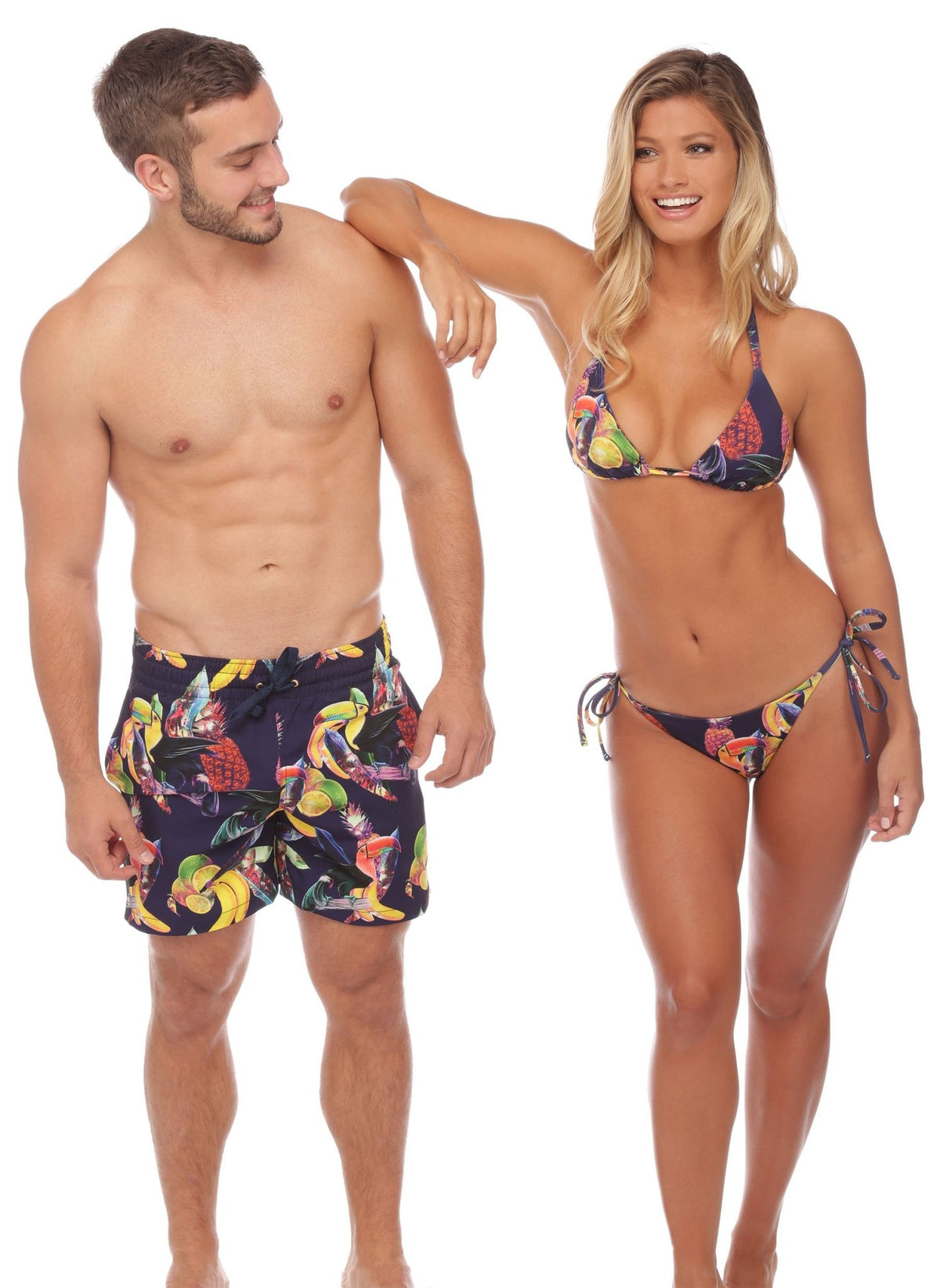 Save The Toucans Mens Trunks - Salty Mermaid Swim