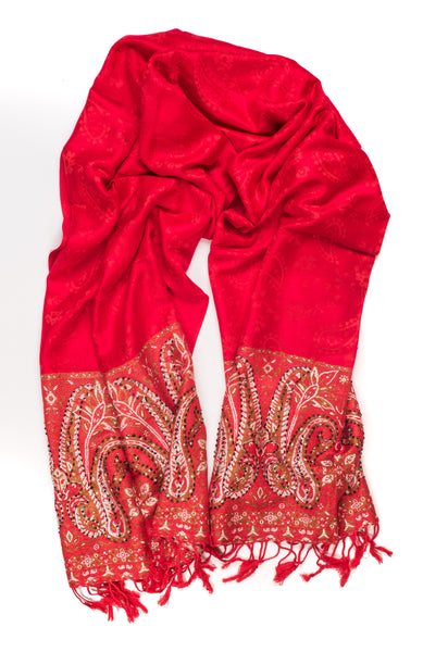 Bright Red Pashmina