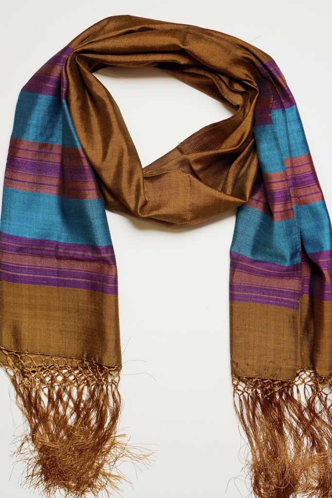 Egyptian Bronze Silk - Assorted Styles - FLYING SCARFS