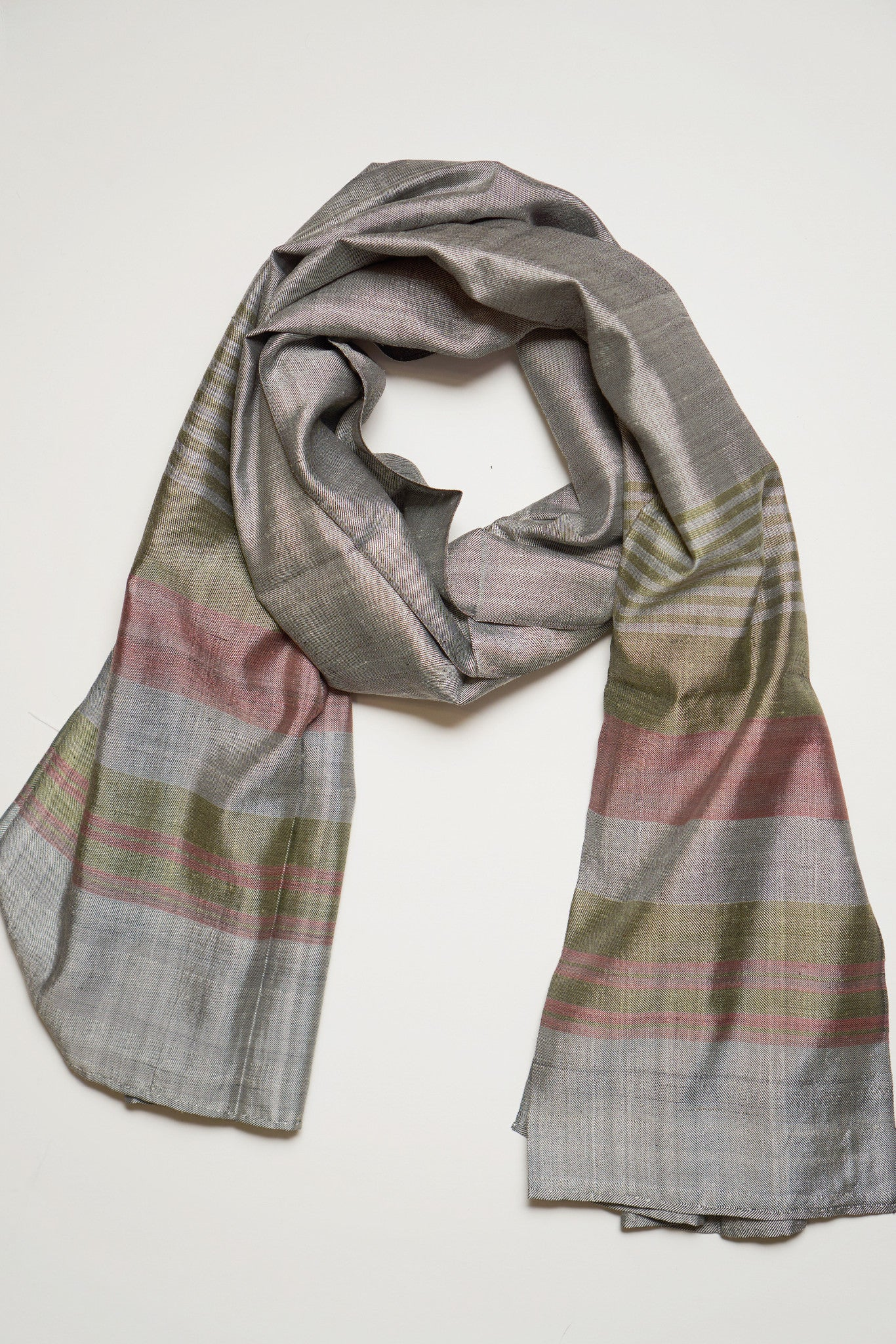 Gray Silk - Assorted Styles - FLYING SCARFS