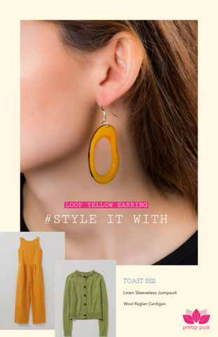 eco earrings and sustainable clothes