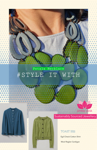 Eco Necklace and sustainable clothing