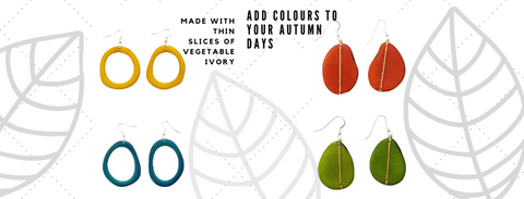 Variety of ethical tagua earrings