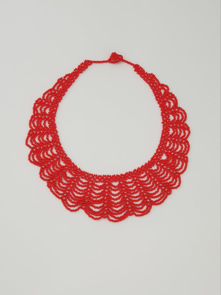 Red Renda Necklace - Pretty Pink Jewellery