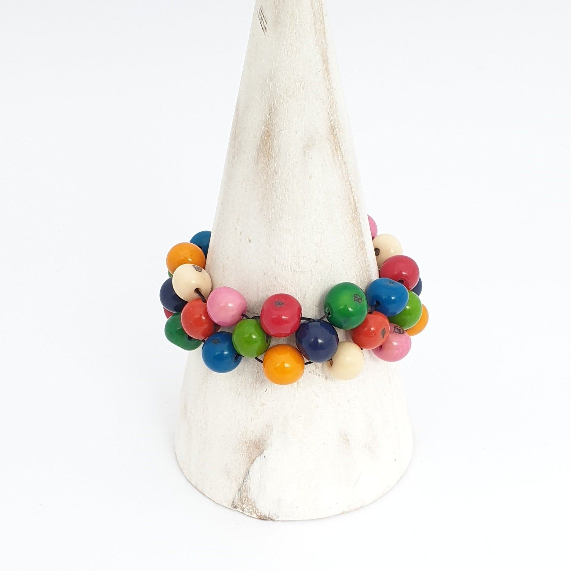 Cobra Eco-Bracelet Multicoloured - Pretty Pink Jewellery