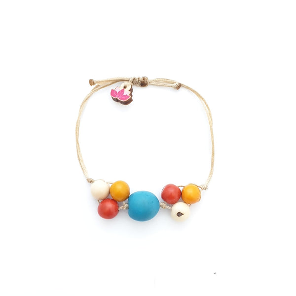 Joana Adjustable Bracelet - Pretty Pink Jewellery