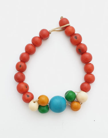 Ana Acai and Tagua Seeds Bracelet - Pretty Pink Jewellery