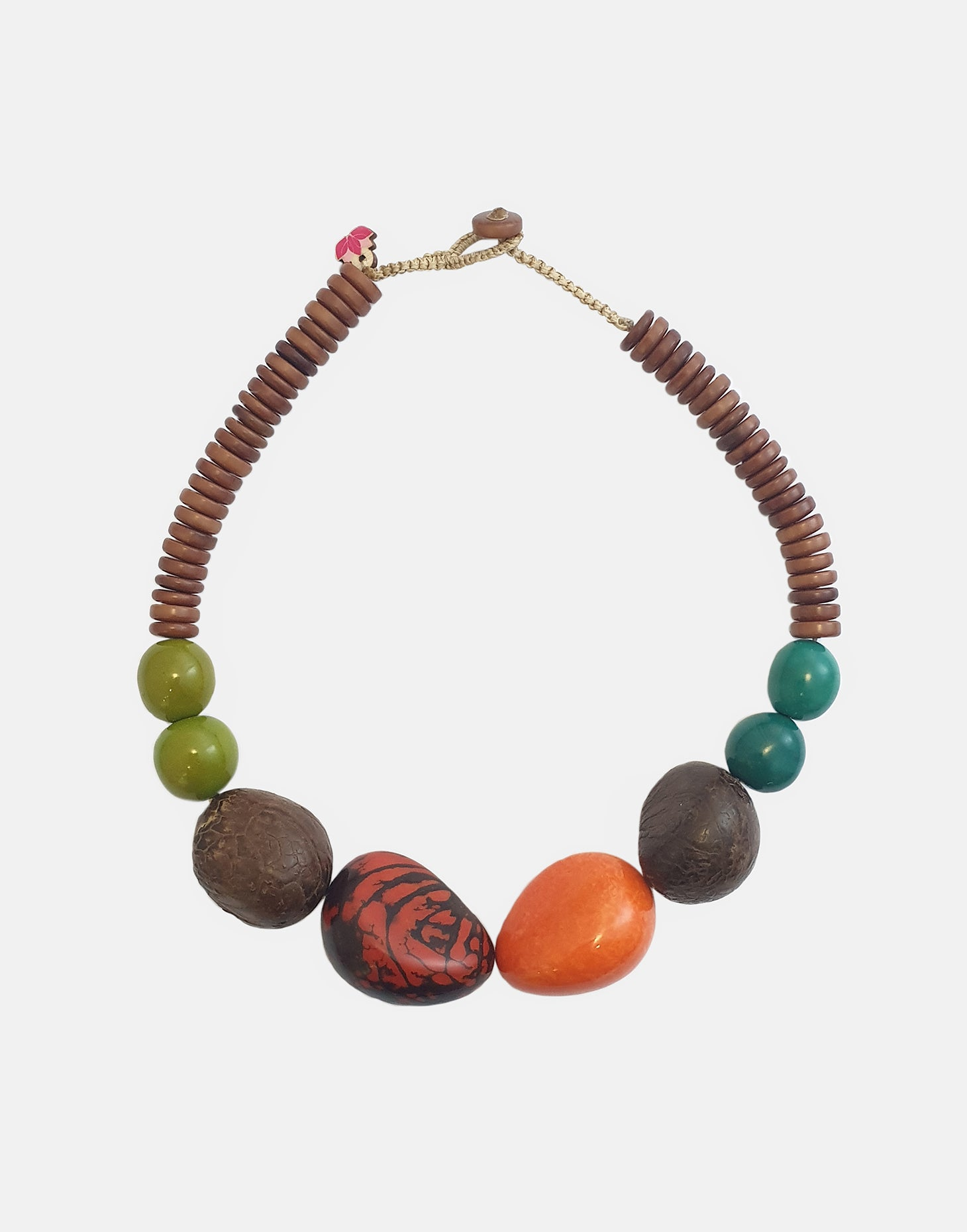Paru Tagua Nut Necklace - Pretty Pink Jewellery