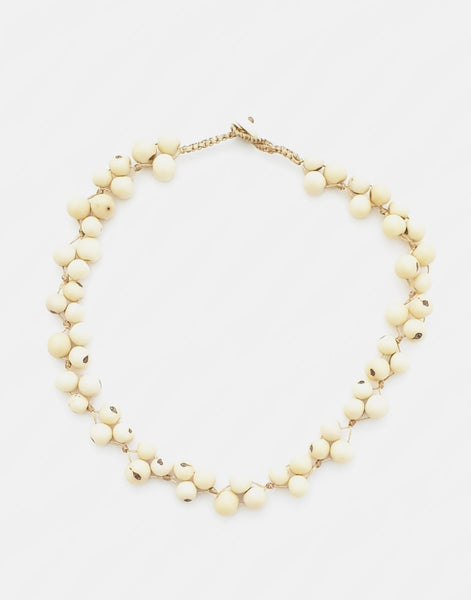 Ivory Acai Berry Short Necklace - Pretty Pink Jewellery
