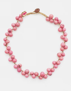 Light Pink Acai Berry Short Necklace - Pretty Pink Jewellery