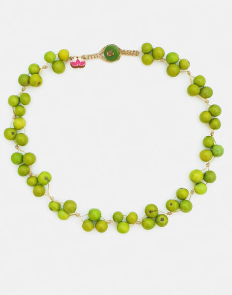 Green Acai Berry Short Necklace - Pretty Pink Jewellery