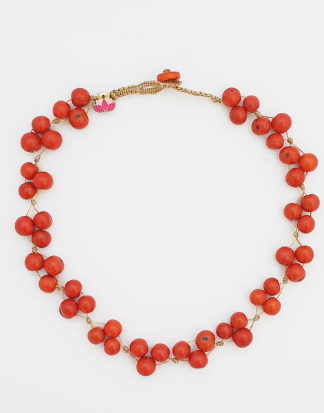 Orange Acai Berry Short Necklace - Pretty Pink Jewellery