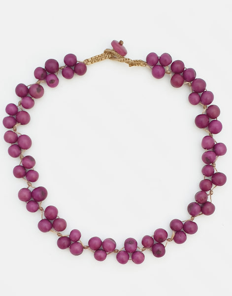 Purple Acai Berry Short Necklace - Pretty Pink Jewellery