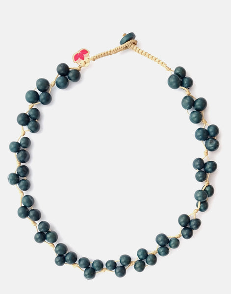 Denim Blue Acai Berry Short Necklace - Pretty Pink Jewellery