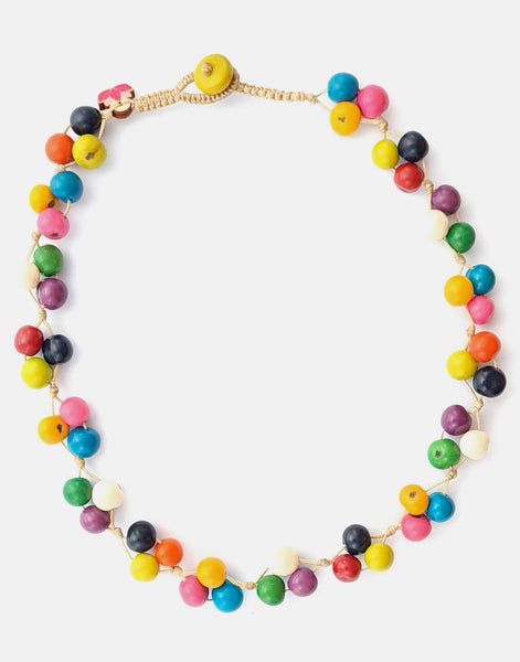 Multicoloured Acai Berry Short Necklace - Pretty Pink Jewellery