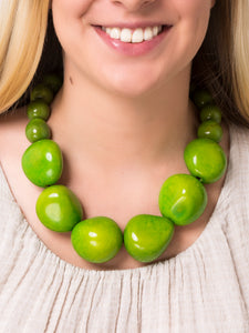 Green Organico Necklace - Pretty Pink Jewellery