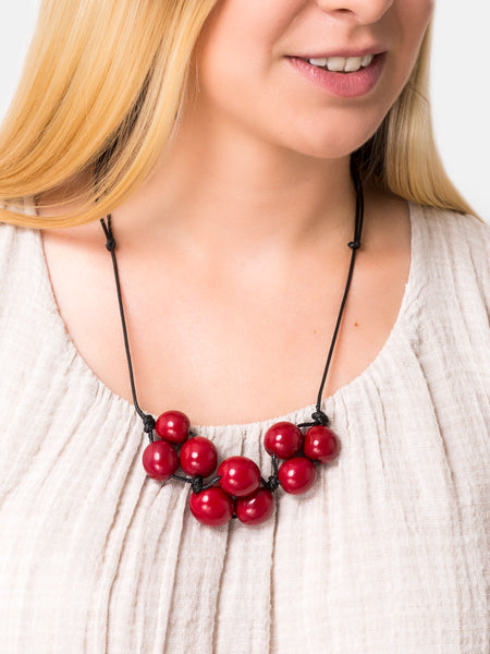 Red Bolota Adjustable Necklace - Pretty Pink Jewellery