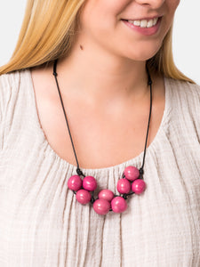 Light Pink Bolota Adjustable Necklace - Pretty Pink Jewellery