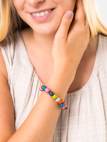 Multicoloured Acai Bracelets - Pretty Pink Jewellery