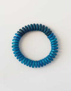 Blue Rio Tagua Buttons Bracelet - Pretty Pink Jewellery